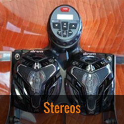 Choose from a JVC Stereo w/Bluetooth or Windshield Mounted Stereo for your Wide Open Custom Fairing.